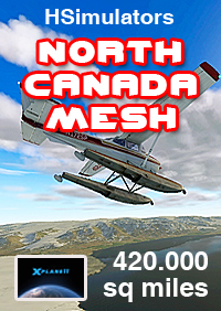 HSIMULATORS - NORTH CANADA MESH V1 X-PLANE 11