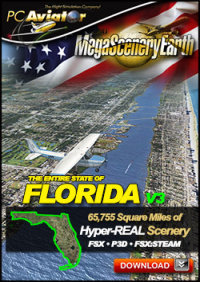 PC AVIATOR - MEGASCENERY EARTH V3 - FLORIDA FSX P3D