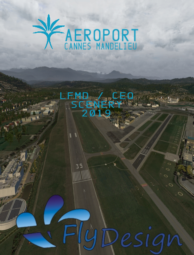 FLYDESIGN - LFMD/CEQ CANNES - MANDELIEU AIRPORT 2019 X-PLANE 10/11