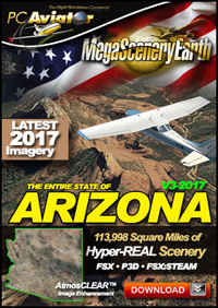 MEGASCENERYEARTH - ARIZONA V3 2017 FSX P3D