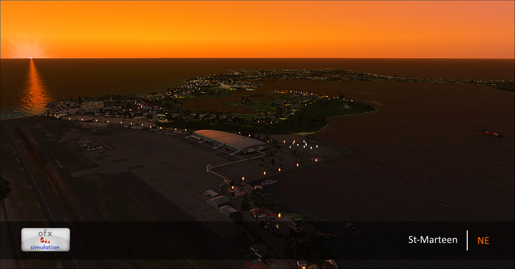 OFX SIMULATION - ST. MARTEEN NIGHT ENVIRONMENT FSX