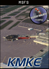 FSXCENERY - KMKE MILWAUKEE INTERNATIONAL AIRPORT MSFS