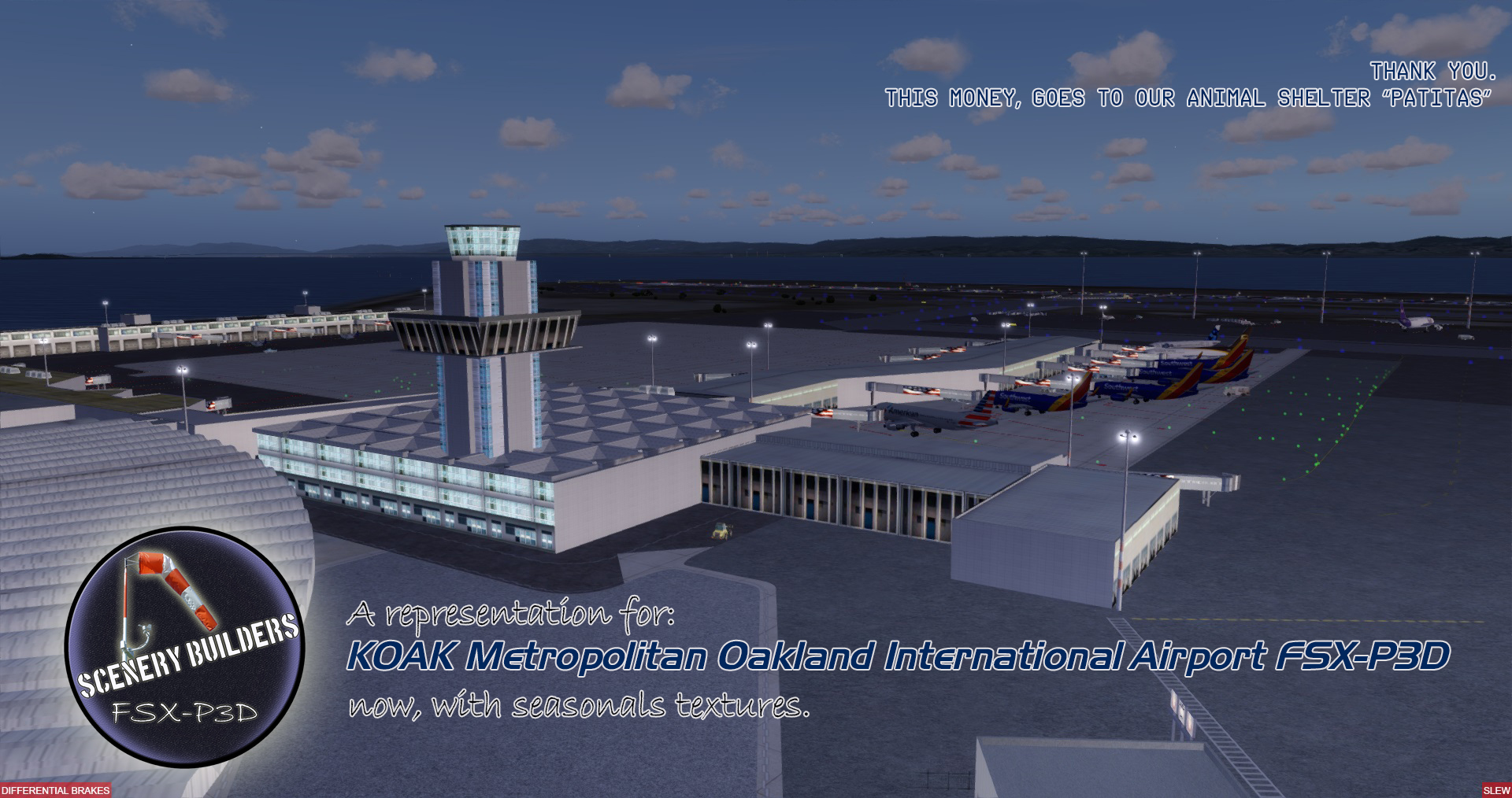 FSXCENERY - KOAK METROPOLITAN OAKLAND INTERNATIONAL AIRPORT FSX P3D