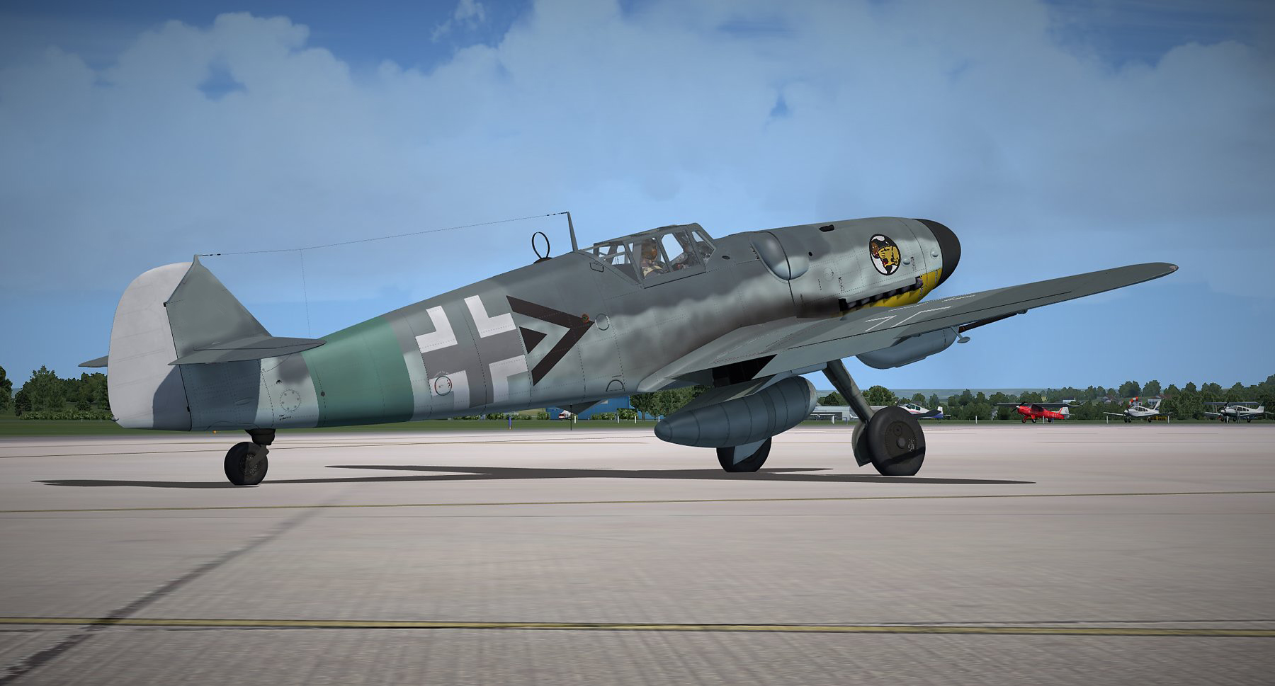 FLIGHT REPLICAS - MESSERSCHMITT BF-109G-6 FOR P3DV4