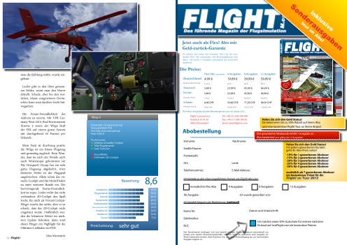 FLIGHT! MAGAZIN - AUSGABE 01 2012