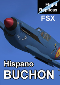 FLIGHT REPLICAS - HISPANO HA-1112-M1L BUCHON FOR FSX, AND P3D UP TO V3