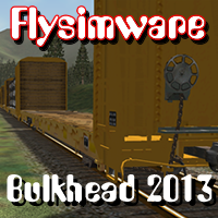 FLYSIMWARE - BULKHEAD RAILCAR SET FOR MSTS