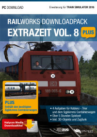 RAILWORKS DOWNLOADPACK - EXTRAZEIT VOL. 8 PLUS - ERWEITERUNG FÜR TRAIN SIMULATOR 2016
