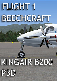 FLIGHT 1 - BEECHCRAFT KING AIR B200 P3D