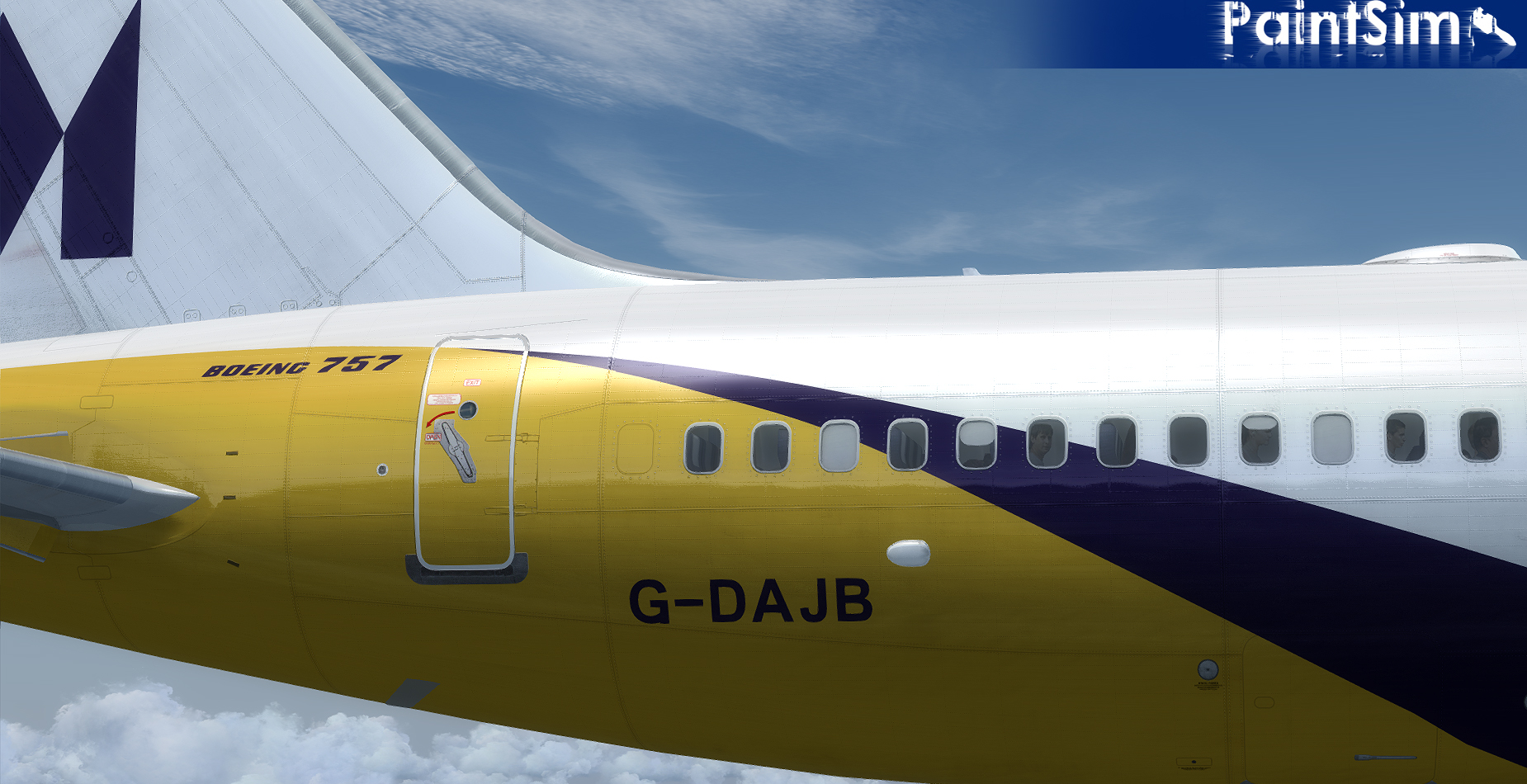 PAINTSIM - UHD TEXTURE PACK 5 FOR CAPTAIN SIM BOEING 757-200 III P3D V4