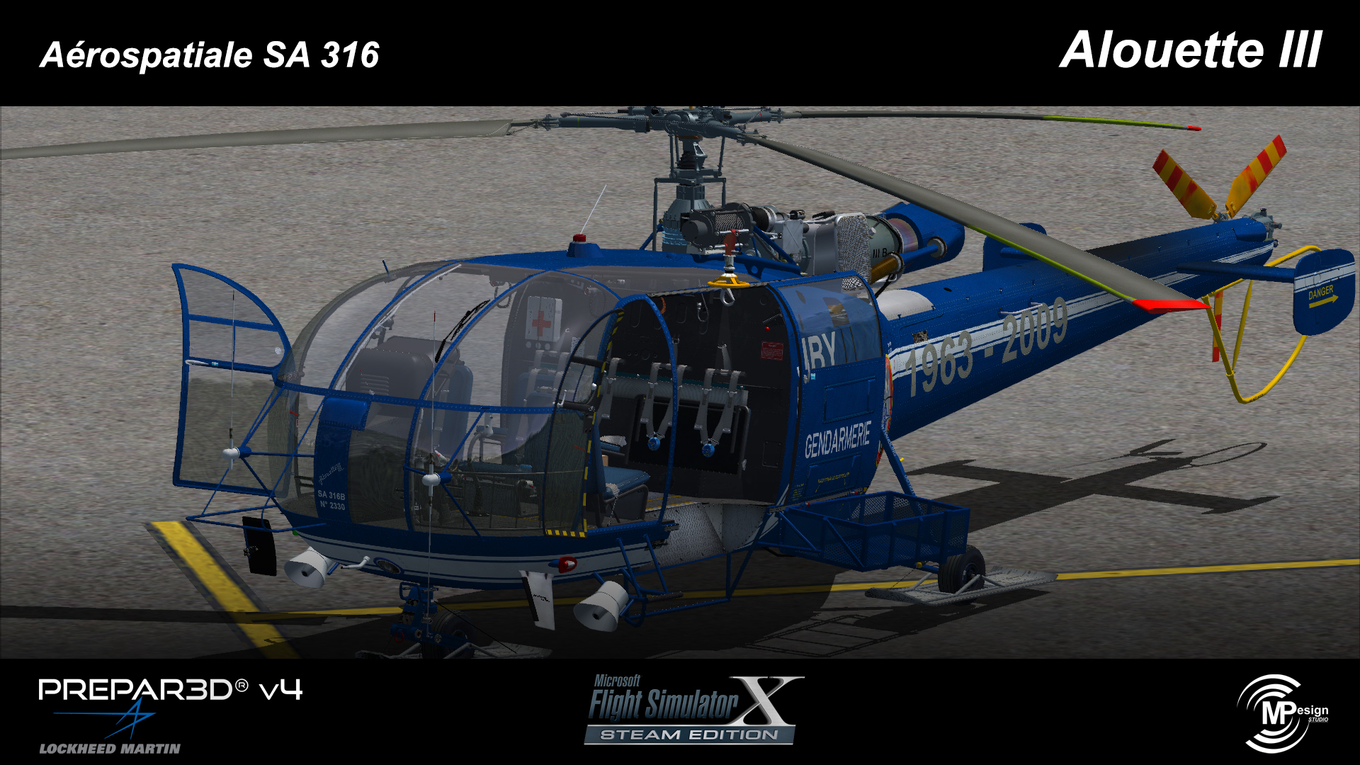 MP DESIGN STUDIO - AEROSPATIALE SA316 ALOUETTE III FSX P3D