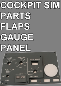 COCKPIT SIM PARTS - FLAPS GAUGE PANEL