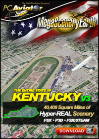 PC AVIATOR - MEGASCENERY EARTH V3 - KENTUCKY FSX P3D