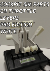 COCKPIT SIM PARTS - CH THROTTLE LEVERS PRO EDITION WHITE