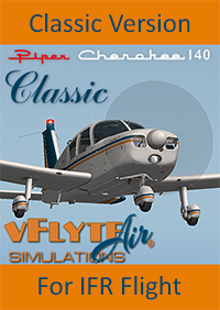 vFlyteAir - PIPER CHEROKEE 140 GLASS PANEL VERSION X-PLANE 10