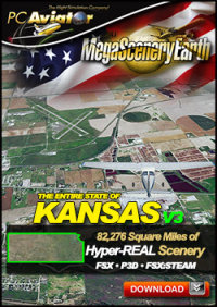 MEGASCENERYEARTH - PC AVIATOR - MEGASCENERY EARTH V3 - KANSAS FSX P3D