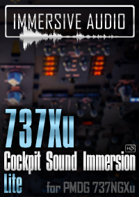 IMMERSIVE AUDIO - 737XU COCKPIT SOUND IMMERSION LITE P3D4.4-5