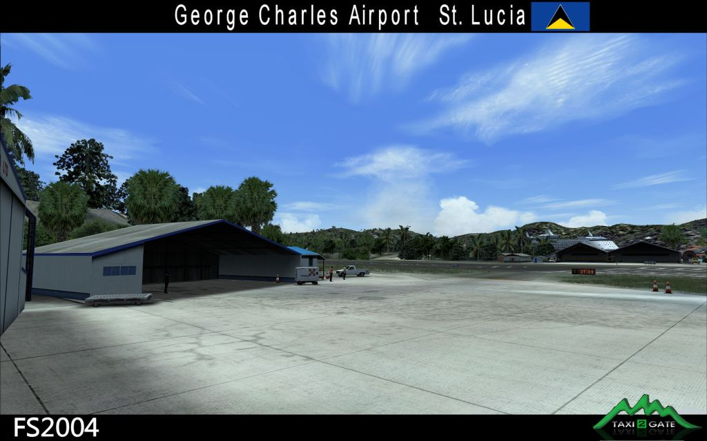 TAXI2GATE - GEORGE F. L. CHARLES AIRPORT SAINT LUCIA FS2004