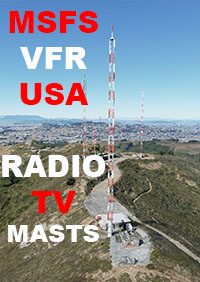 USA VFR RADIO AND TV MASTS MSFS