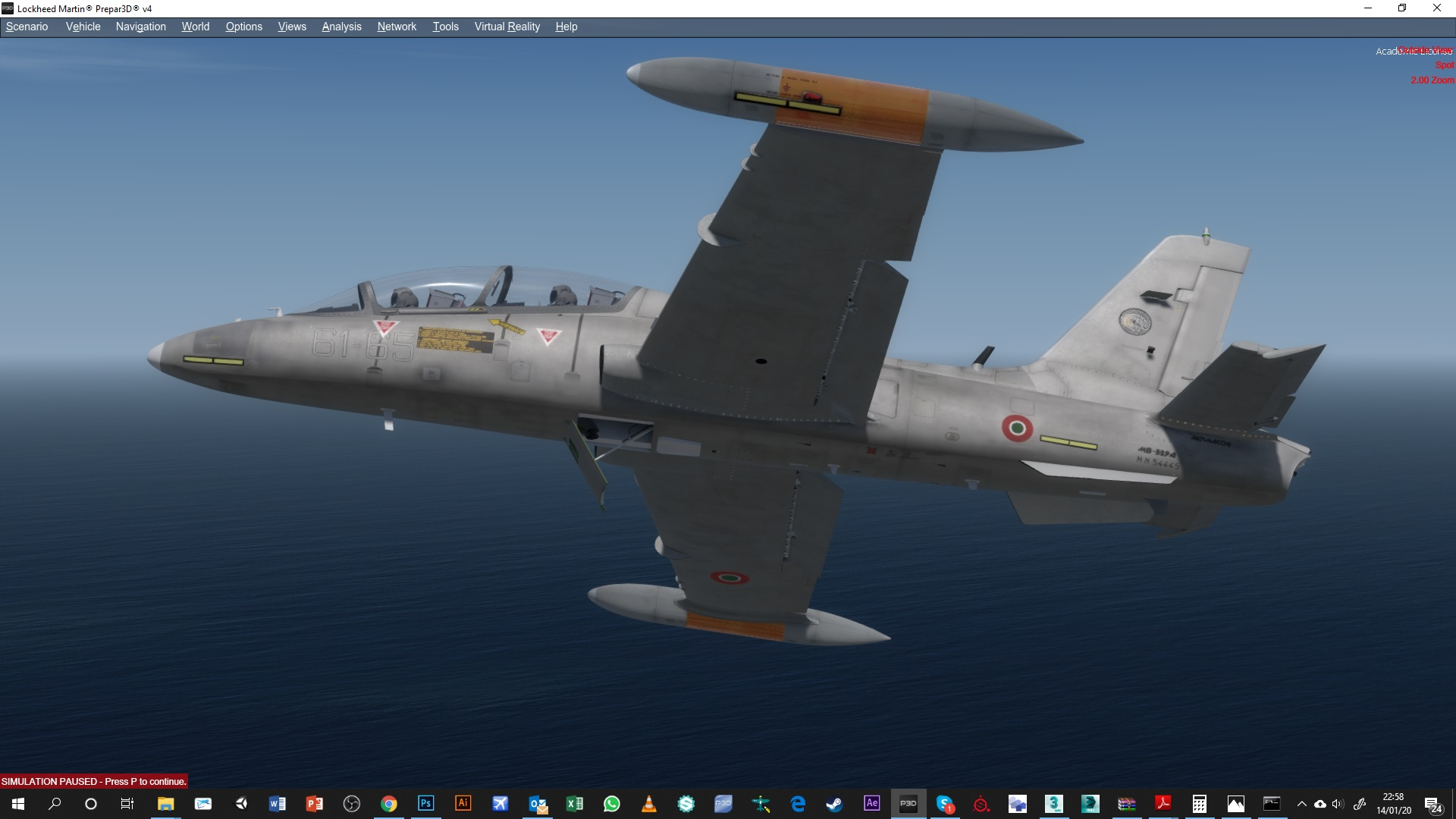 FLYING QUIXOTE - AERMACCHI MB339A/PAN P3D4-5