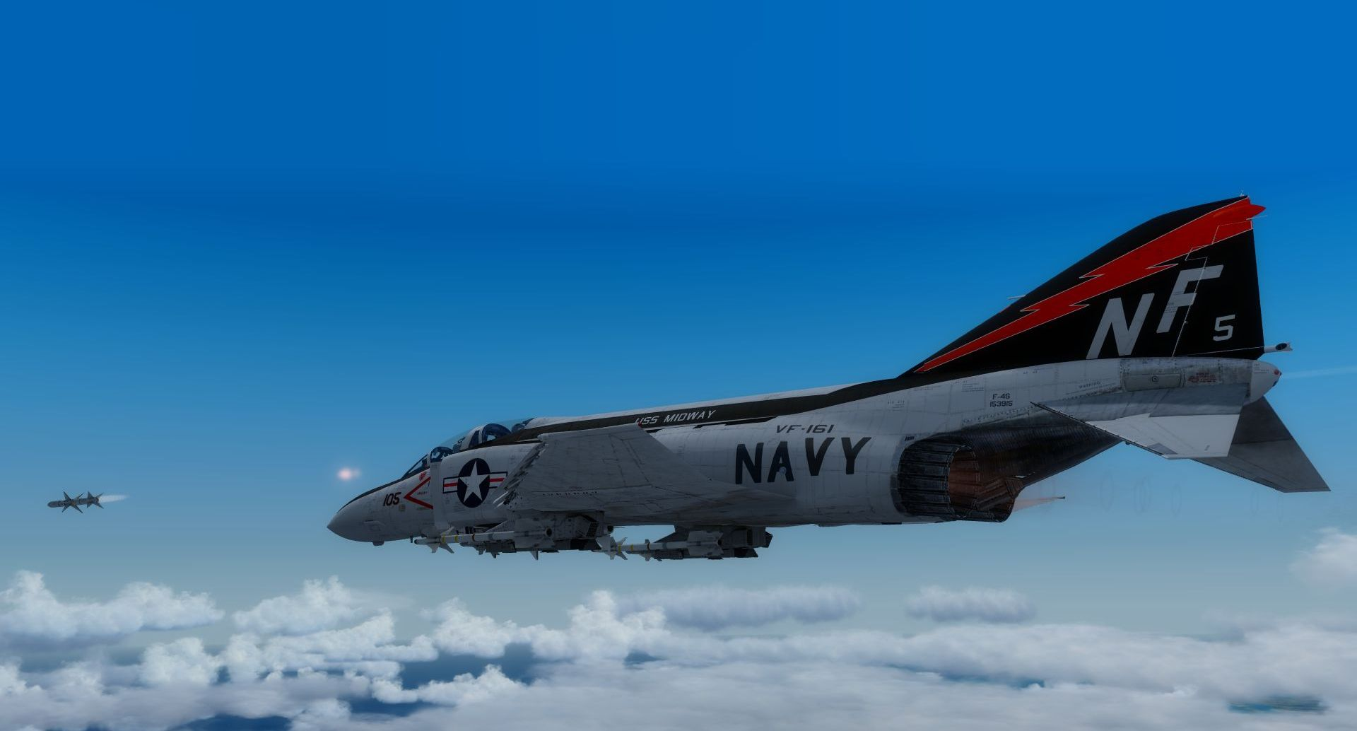 MILVIZ - ADVANCED SERIES F-4J/S 鬼怪式战斗机 II 高级版 FSX P3D