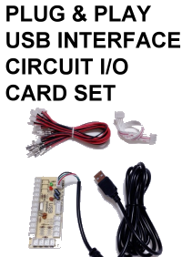 COCKPIT PHD - PLUG & PLAY USB INTERFACE CIRCUIT I/O CARD SET FOR EXTRA SWITCHES