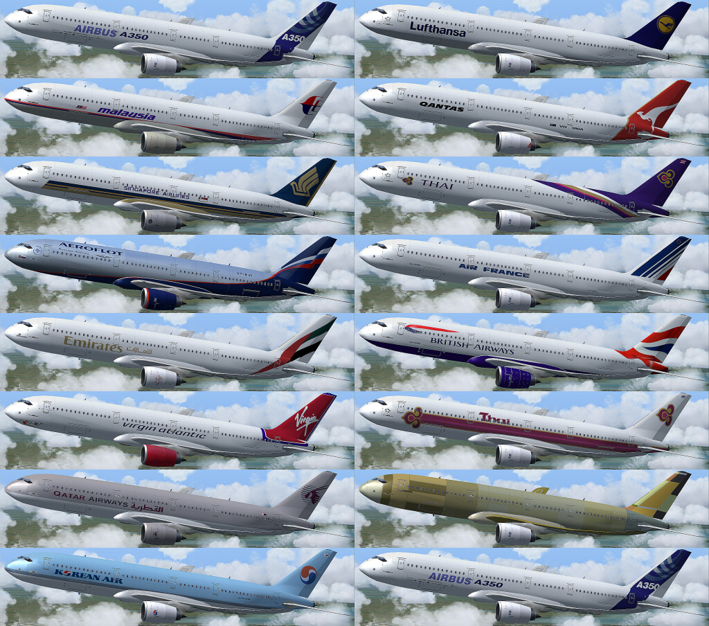 AFS-DESIGN - AIRBUS A350 FAMILY V3 FSX STEAM