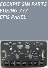 COCKPIT SIM PARTS - BOEING 737 EFIS PANEL