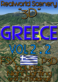 REALWORLD SCENERY - REALWORLD SCENERY GREECE 3D VOL.2.2 FSX P3D