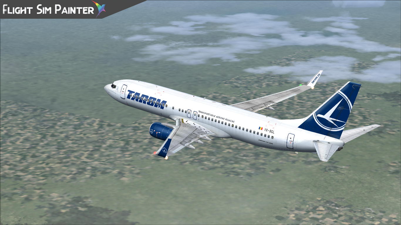 FLIGHT SIM PAINTER - TAROM LIVERY PACK FOR IFLY BOEING 737-800 FS2004