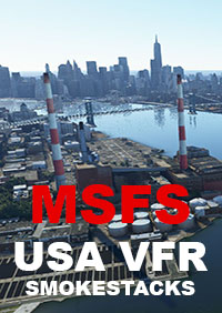 TABURET - USA VFR SMOKESTACKS MSFS