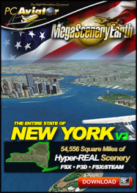 PC AVIATOR - MEGASCENERY EARTH V3 - NEW YORK FSX P3D