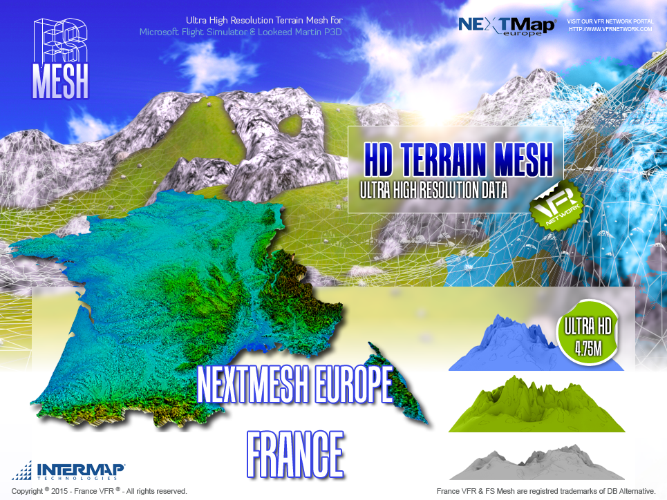 FRANCEVFR - NEXT MESH EUROPE FRANCE FSX, FSX:SE AND P3D V2.0 TO V2.5