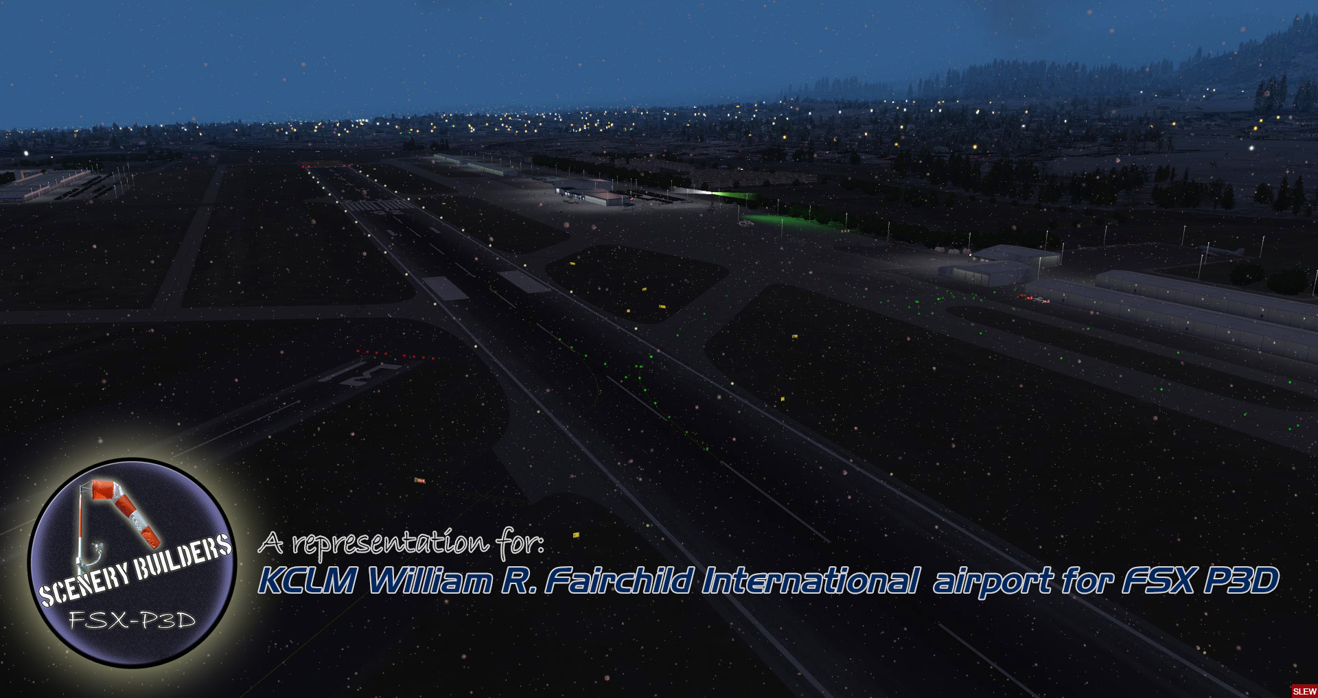 FSXCENERY - KCLM WILLIAM R. FAIRCHILD INTERNATIONAL AIRPORT FSX P3D