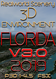REALWORLDSCENERY - FLORIDA 3D ENVIRONMENT 3.0 2019 P3D FSX