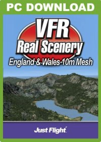 JUSTFLIGHT - VFR REAL SCENERY - ENGLAND & WALES 10M MESH FSX