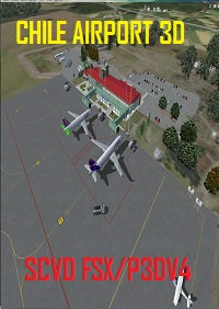 CHILE AIRPORTS 3D - 智利-瓦尔迪维亚机场 SCVD FSX P3D4