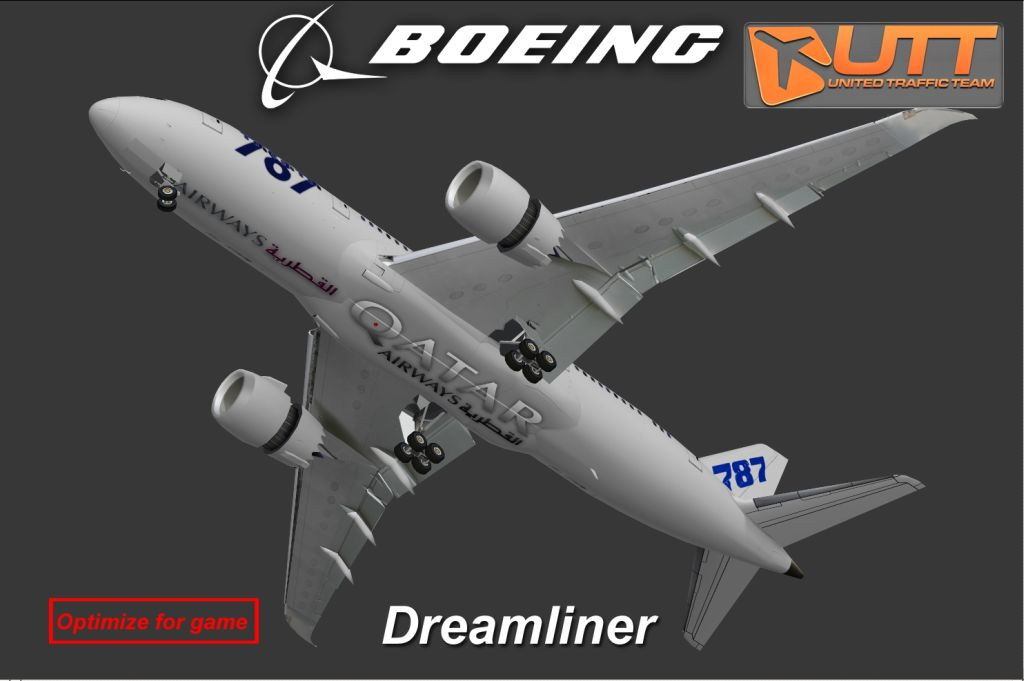UTT - BOEING 787-800 SOURCE MODEL FOR 3DS MAX