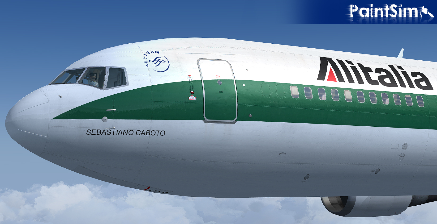 PAINTSIM - UHD TEXTURE PACK 9 FOR LEVEL-D BOEING 767-300ER FSX P3D