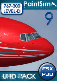 UHD TEXTURE PACK 9 FOR LEVEL-D BOEING 767-300ER FSX P3D