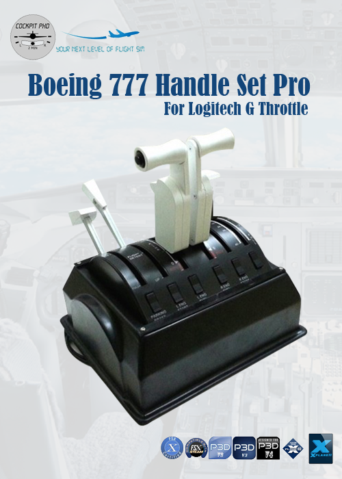 COCKPIT PHD - BOEING 777 HANDLE SET PRO FOR LOGITECH G THROTTLE