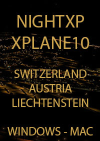 TABURET - NIGHT XP SWITZERLAND - AUSTRIA - LIECHTENSTEIN FOR X-PLANE 10