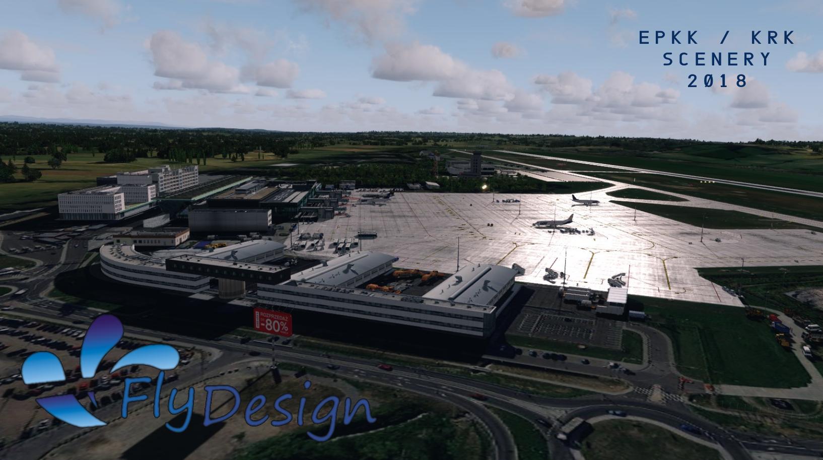 FLYDESIGN - EPKK JOHN PAUL II INTERNATIONAL AIRPORT KRAKOW 2018 P3D