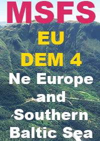 TABURET - EU DEM PACK 4 - NORTH EAST EUROPE AND SOUTHER BALTIC TERRAIN MSFS