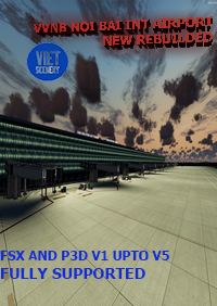 VIET SIM SCENERY - VVNB NOI BAI INTERNATIONAL AIRPORT NEWLY REBUILDT FSX P3D1-5