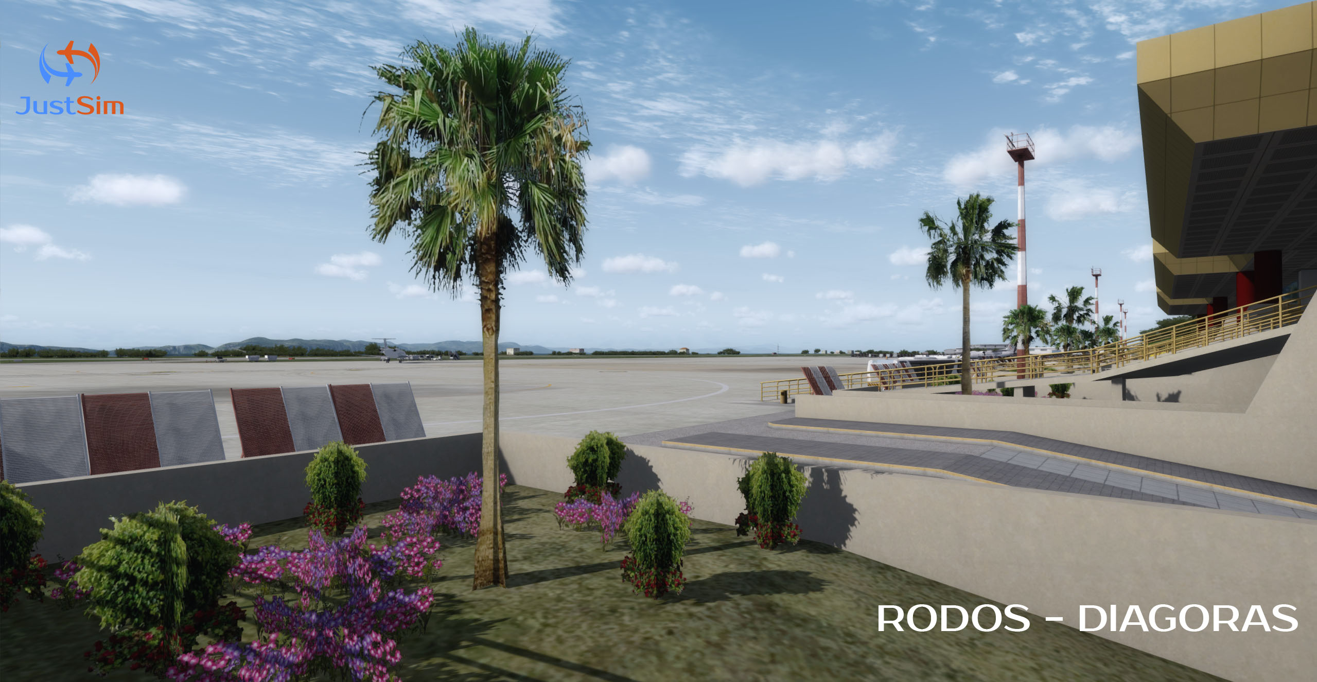 JUSTSIM - RHODES INTERNATIONAL AIRPORT DIAGORAS P3D