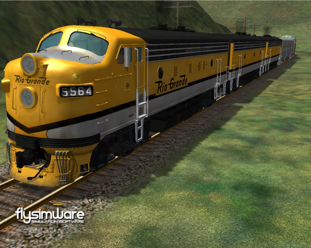 FLYSIMWARE LLC - D&RGW ZEPHYR SET FOR MSTS