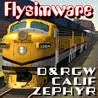 FLYSIMWARE - D&RGW ZEPHYR SET FOR MSTS