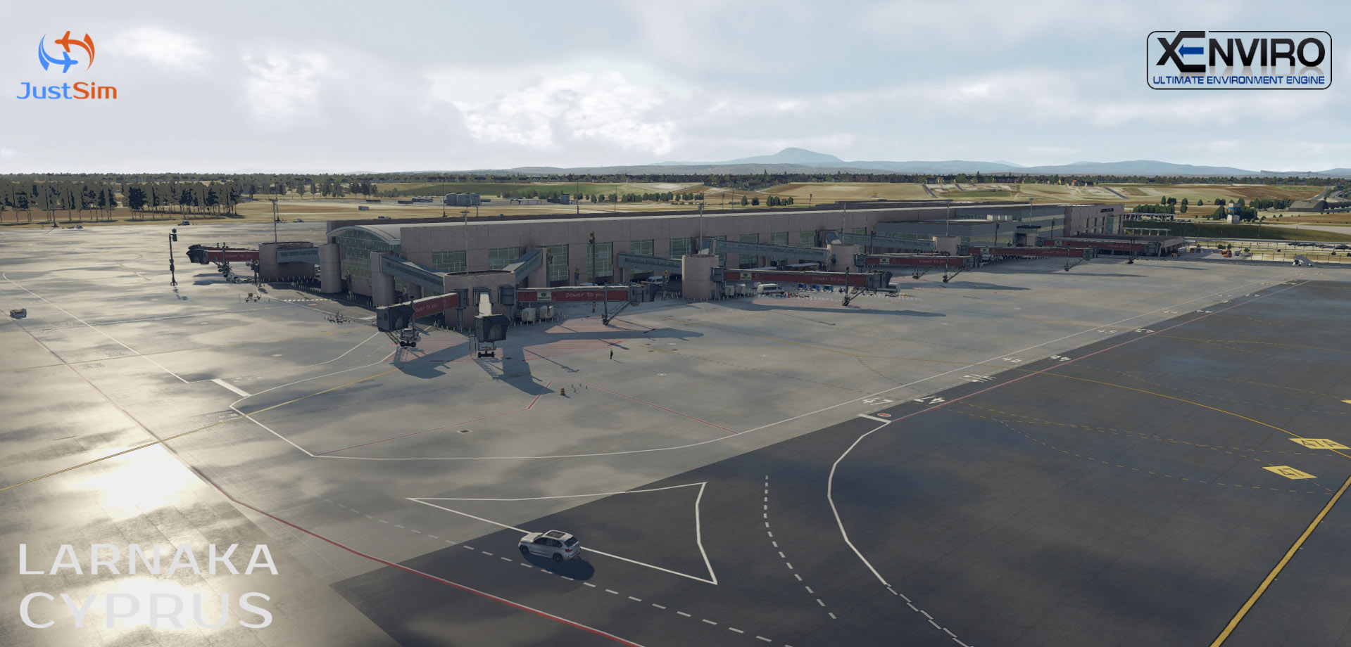 JUSTSIM - LARNACA INTERNATIONAL AIRPORT LCLK X-PLANE 11