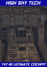 HIGH SKY TECH - ULTIMATE ENHANCED VIRTUAL COCKPIT FOR SSG 747-8I X-PLANE 10/11